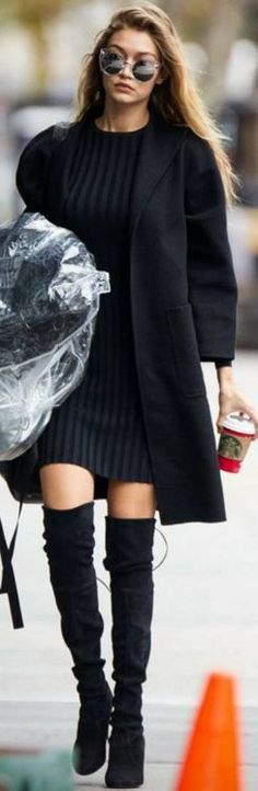 e9f801315c9 Get The Look: Gigi Hadid in Over the Knee Boots – theglamsidedotnet